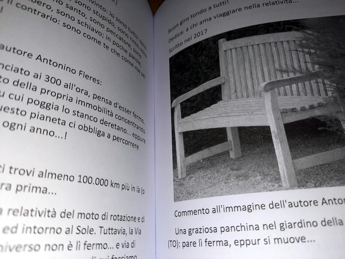 Antonino Fleres con il libro per la Madre e per alcuni altri